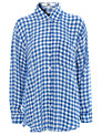 True Decadence Gingham Oversized Shirt, Blue