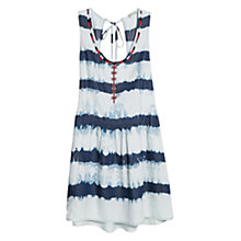 Buy Mango Bead Striped Dress, Navy Online at johnlewis.com