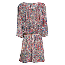 Buy Mango Paint Print Dress, Medium Red Online at johnlewis.com