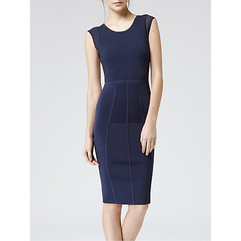 Buy Reiss Fluxy Knit Bodycon Dress, Indigo Online at johnlewis.com