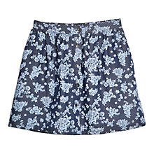 Buy Mango Flower Denim Skirt, Navy Online at johnlewis.com