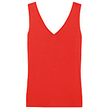 Buy Reiss Ona V-Neck Tank Top, Paprika Online at johnlewis.com