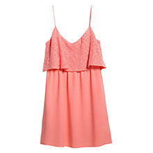 Buy Mango Textured Ruffle Dress Online at johnlewis.com