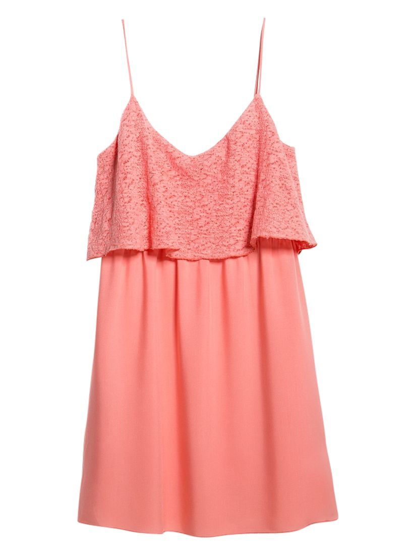 mango textured ruffle dress, mango, textured, ruffle, dress, light pastel red|light pastel red|light pastel red, 8|10|12, edition magazine, easy summer pieces, clearance, womenswear offers, winter sun, women, womens dresses, special offers, womens dresses offers, 1407140