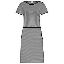 Buy Reiss Benton Stripe Jersey Dress, Black/White Online at johnlewis.com