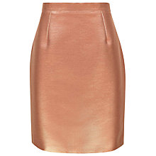 Buy Reiss Mona Metallic Skirt, Copper Online at johnlewis.com