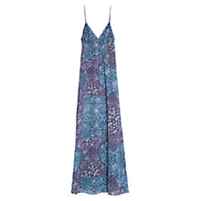 Buy Mango Printed Long Dress, Medium Blue Online at johnlewis.com