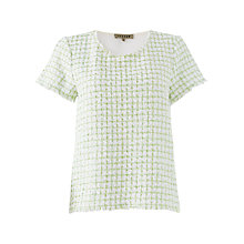 Buy Jigsaw Spring Tweed T-shirt, Green Online at johnlewis.com