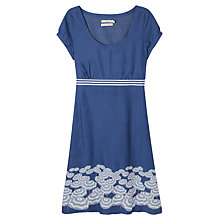 Buy Seasalt Morvoren Border Print Dress, Blue Online at johnlewis.com