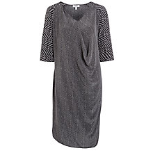 Buy Farhi by Nicole Farhi Herringbone Dress, Charcoal Online at johnlewis.com