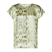 Buy Reiss Bronny Top, Lime Sorbet Online at johnlewis.com