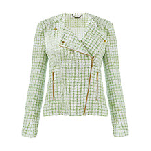 Buy Jigsaw Spring Tweed Jacket, Green Online at johnlewis.com