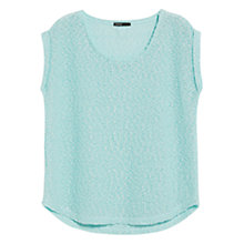 Buy Mango Open Knit T-Shirt, Verde Candy Online at johnlewis.com