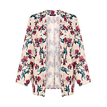 Buy Oasis Bird Kimono Jacket, Off White Online at johnlewis.com