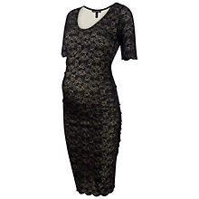 Buy Isabella Oliver Henman Lace Maternity Dress, Black Online at johnlewis.com