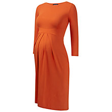 Buy Isabella Oliver Ivybridge Pleat Detail Dress, Burnt Coral Online at johnlewis.com