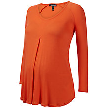 Buy Isabella Oliver Atherton Ribbed Cotton Maternity Top, Burnt Coral Online at johnlewis.com