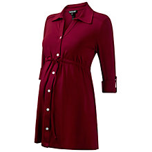 Buy Isabella Oliver Relaxed Jersey Maternity Shirt, Wine Online at johnlewis.com