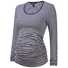 Buy Isabella Oliver Hamilton Stripe Maternity T-Shirt, Blue/White Online at johnlewis.com