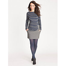 Buy Séraphine Janine Mini Maternity Skirt, Charcoal Online at johnlewis.com