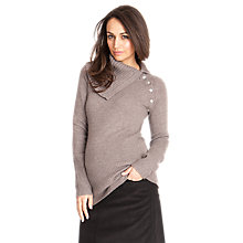 Buy Séraphine Zara Button Neck Knit Maternity Jumper, Chestnut Online at johnlewis.com
