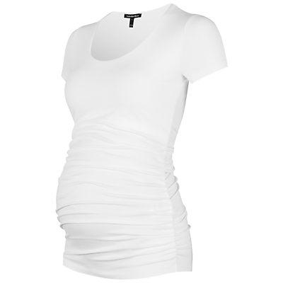Product photo of Isabella oliver ruched maternity tshirt white