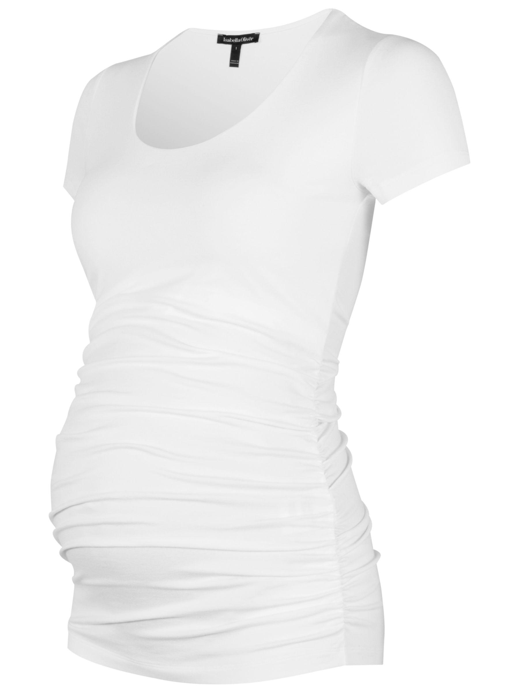 Isabella Oliver Isabella Oliver Ruched Maternity T-Shirt, White