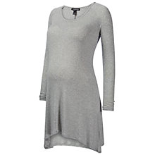 Buy Isabella Oliver Atherton Ribbed Tunic Maternity Top, Grey Online at johnlewis.com