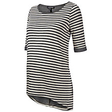 Buy Isabella Oliver Ellie Stripe Tunic Maternity Top, Grey Online at johnlewis.com