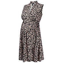 Buy Isabella Oliver Hutton Animal Print Maternity Dress, Black Online at johnlewis.com