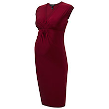 Buy Isabella Oliver Carla Twist Front Maternity Dress, Wine Online at johnlewis.com