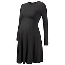 Buy Isabella Olvier Danbury Long Sleeve Skater Maternity Dress, Dark Grey Online at johnlewis.com