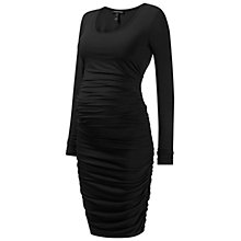 Buy Isabella Oliver Ruched Long Sleeve Midi Dress, Black Online at johnlewis.com