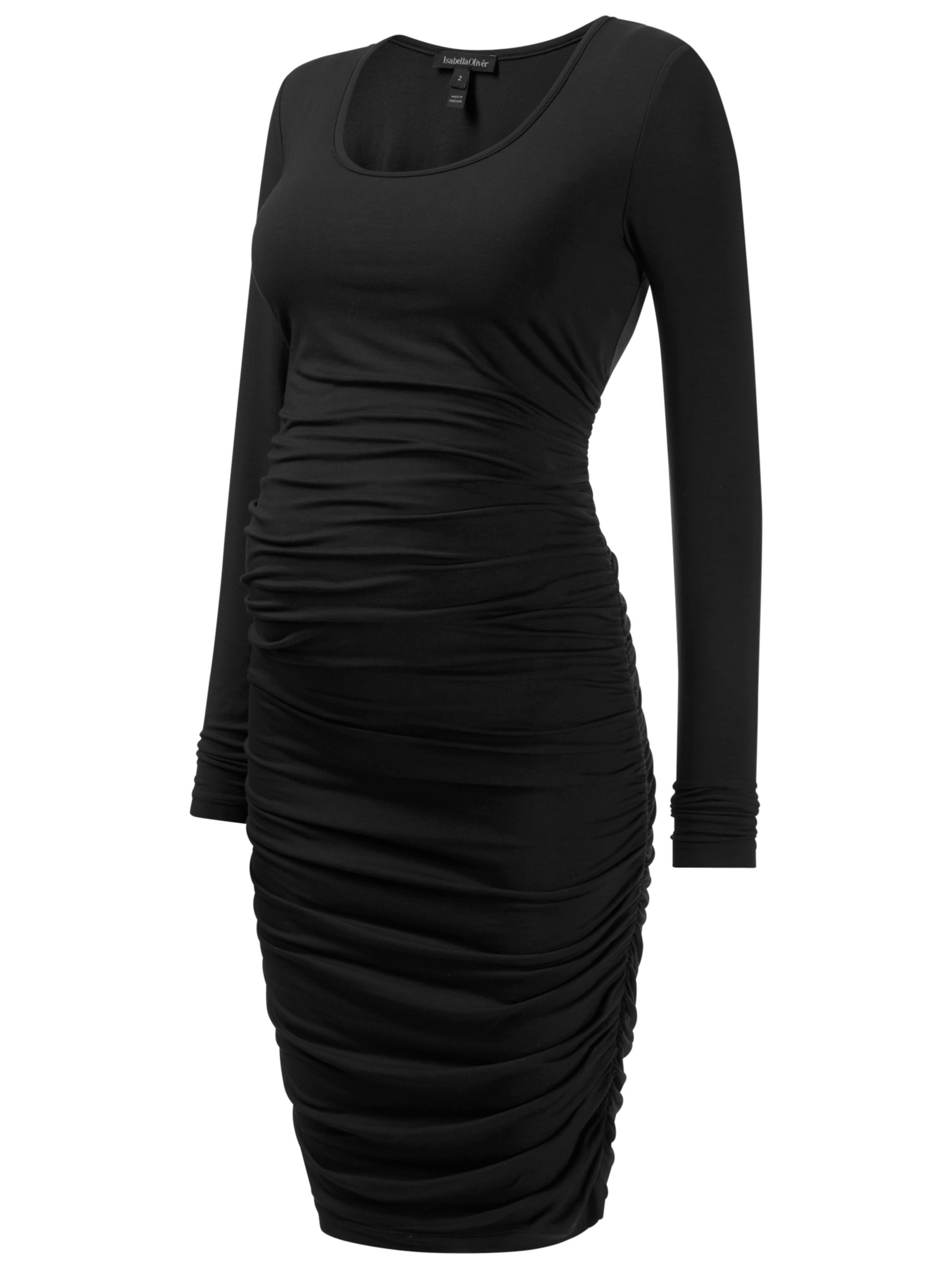 isabella oliver ruched long sleeve midi maternity dress black, isabella, oliver, ruched, long, sleeve, midi, maternity, dress, black, isabella oliver, 8|10|16|12|14, women, womens dresses, baby & child, pregnancy & maternity, maternity wear, 1494097