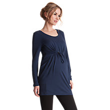 Buy Séraphine Theodora Maternity Tunic Top, Navy Online at johnlewis.com
