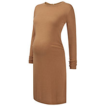 Buy Isabella Oliver Camrose Knit Maternity Dress, Camel Online at johnlewis.com