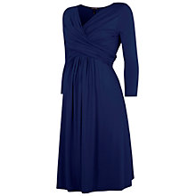 Buy Isabella Oliver Emily Ruched Wrap Front Maternity Dress, French Navy Online at johnlewis.com