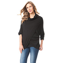 Buy Séraphine Missy Poncho Maternity Jumper, Black Online at johnlewis.com