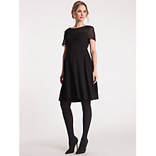 Buy Séraphine Lucille Chiffon Contrast Dress, Black Online at johnlewis.com