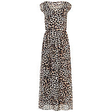 Buy Rise Amanda Cami Maxi Dress, Brown Animal Print Online at johnlewis.com