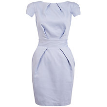 Buy Closet Blue Textured Tie Back Dress, Pale Blue Online at johnlewis.com