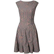 Buy Almari Bonded Lace Panel Floral Dress, Grey Online at johnlewis.com