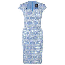 Buy Adrianna Papell Sheath Dress, Blue Lake Online at johnlewis.com