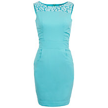Buy Wolf & Whistle Lace Panel Fitted Dress, Pale Blue Online at johnlewis.com