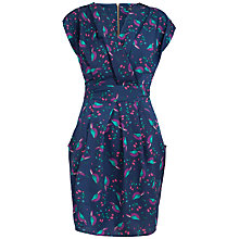 Buy Closet BLU Cross Over Bird Print Dress, Blue/Multi Online at johnlewis.com