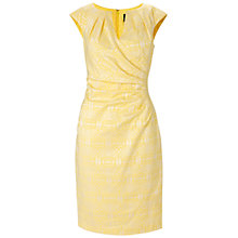 Buy Adrianna Papell Pleated Teacup Dress, Lemon Ice Online at johnlewis.com