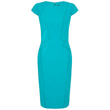 Buy Adrianna Papell Fractured Seam Dress, Bright Aqua Online at johnlewis.com