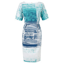 Buy Adrianna Papell Short Sleeve Sheath Dress, Teal Multi Online at johnlewis.com