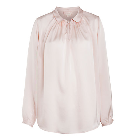 Buy Ghost Hosking Satin Blouse, Almond Online at johnlewis.com