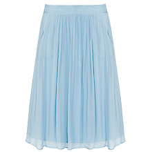Buy Ghost Lotus Satin Skirt, Dusty Blue Online at johnlewis.com